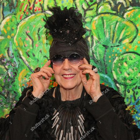 Editorial photo of Molly Parkin art exhibition, London, UK - 09 Feb 2017