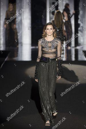 Madelaine Hjort on the catwalk