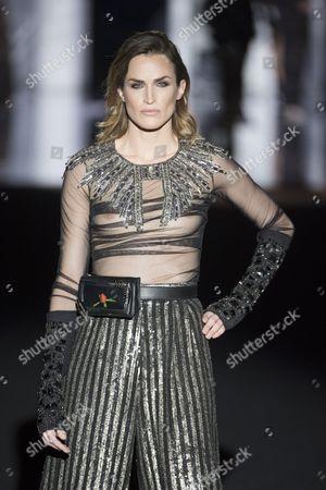 Stock Image of Madelaine Hjort on the catwalk