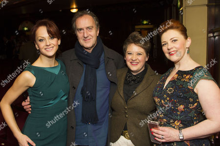 Jenny Gayner (Miss Wilson), Angus Deayton, Claire Machin (Cora) and Sophie-Louise Dann (Celia) and