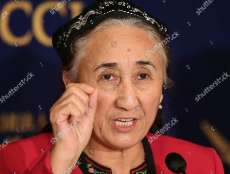 World Uyghur Congress President Rebiya Kadeer speaks during a press conference at the Foreign Correspondents' Club of Japan in Tokyo