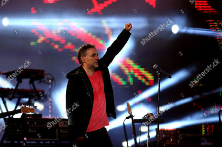 Vocalist Vicentico of the Argentina rock band Los Fabulosos Cadillacs performs on the opening night of the Viña del Mar International Song Festival at the Quinta Vergara in Viña del Mar, Chile, . Believed to be one of the largest musical events in Latin America, the annual five-day festival was inaugurated in 1960