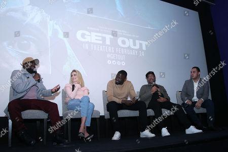Lil Rel Howery, Allison Williams, Daniel Kaluuya, Jordan Peele and Ashley Clark