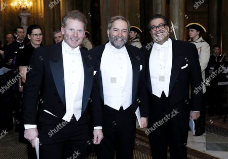 Stock Picture of Daniel Alfredsson, Thomas Mulcair during a Banquet at the Royal Palace