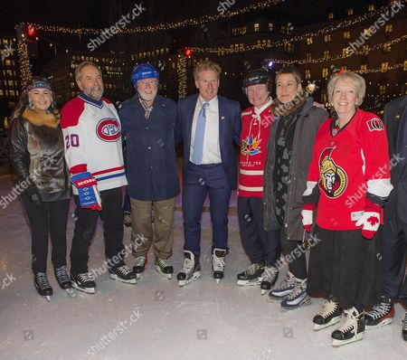 David Johnston, Governor General of Canada, Daniel Alfredsson, State Visit from Canada, skating in Kungsträdgården, Stockholm