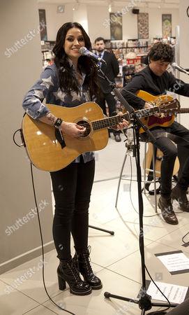Editorial picture of Amy McDonald performing at HMV ocean terminal, Edinburgh, Scotland - 18 Feb 2017
