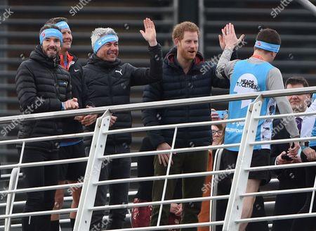 Steve Cram, Jonathan Edwards and Prince Harry