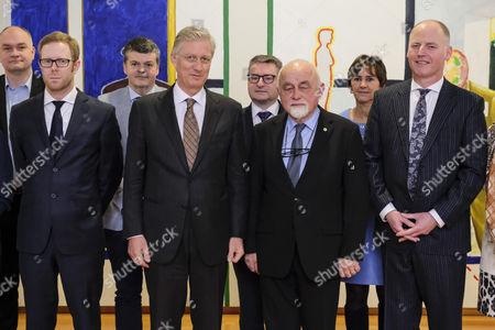 Peter Van Rompuy, Bart Somers, King Philippe, Jan Peumans, Marino Keulen