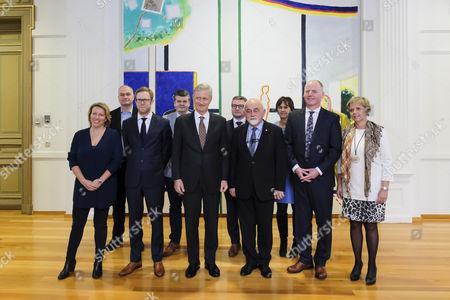 Caroline Gennez, Peter Van Rompuy, King Philippe, Jan Peumans, Marino Keulen