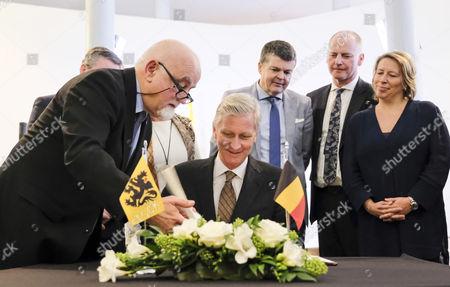 King Philippe, Jan Peumans, Bart Somers, Marino Keulen, Caroline Gennez