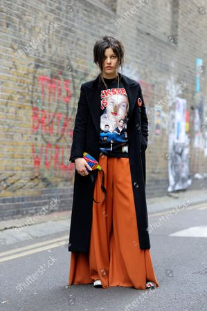 Stock Picture of Model Tatiana Cotliar on Brick Lane
