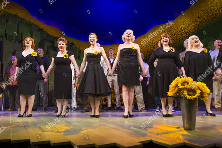 Sophie-Louise Dann (Celia), Claire Machin (Cora), Joanna Riding (Annie), Claire Moore (Chris), Debbie Chazen (Ruth) and Michele Dotrice (Jessie) during the curtain call