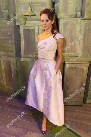 Jenny Gayner (Miss Wilson) backstage