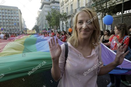 The Local Governor of the Region of Athens Rena Dourou Attends the Athens Gay Pride Parade Athens Greece June 13 2015
