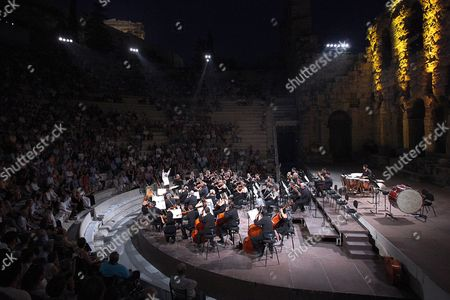 A Photograph Made Available On 02 August 2016 Shows Russian Conductor Vladimir Ashkenazy Performing with the Athens State Orchestra During a Concert at Odeon of Herodes Atticus in Athens Greece 01 August 2016 Ashkenazy with His Son Dimitri Ashkenazy On Solo Clarinet Performed a Classical Program As Part of the 2016 Athens and Epidaurus Festival