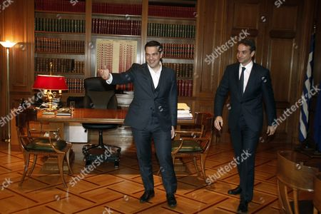 Editorial picture of Greek Prime Minister Alexis Tsipras Meets New Democracy Leader Kyriakos Mitsotakis - Jan 2016