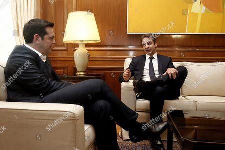 Editorial image of Greek Prime Minister Alexis Tsipras Meets New Democracy Leader Kyriakos Mitsotakis - Jan 2016