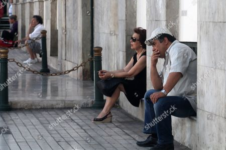 Supporters of the Democrat Socialists Movement (ki Di So) Party Wait For the Speech of Former Greek Prime Minister and Leader of the Party Georgios Papandreou (not Pictured) at Kotzia Square in Athens Greece 02 July 2015 Ahead of the Referendum On 05 July 2015 When Greek Voters Will Be Asked Whether the Country Should Accept Reform Proposals Made by Its Creditors Greek Prime Minister Alexis Tsipras is Telling People to Reject the Measures Arguing That a 'No' Would Give Him a Mandate For New Bailout Negotiations It Would Be 'Extremely Difficult' to Keep Greece in the Eurozone if the Country Votes 'No' in This Weekend's Referendum Jeroen Dijsselbloem the Head of the Eurogroup of Eurozone Finance Ministers Said
