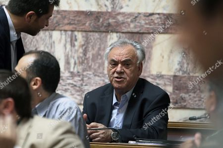 Greek Vice President Giannis Dragasakis (c) Attends a Party Meeting in the Greek Parliament in Athens Greece 16 June 2015 the Greek Parliament After Four Months of Intensive Negotiations Greece Had Submitted a Proposal That Could Have Been the Basis For a Sustainable and Socially Acceptable Agreement Prime Minister Alexis Tsipras Told Syriza's Parliamentary Group On Tuesday 'This Insistence On a Programme of Cuts That Has Failed and Measures That Cannot Be Accepted is not Only Wrong It Most Likely Serves Political Ends and a Plan to Humiliate not Just the Government But the Greek People ' He Said