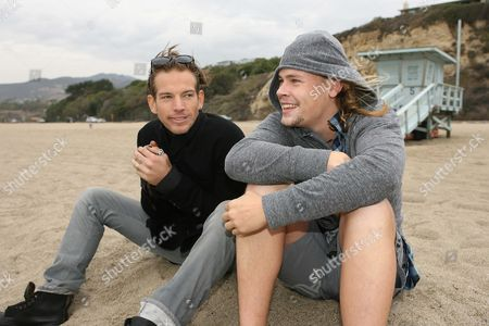 Sean Brosnan and Brawley Nolte at Westward Beach