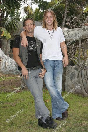 Sean Brosnan and Brawley Nolte at Nick Nolte's property