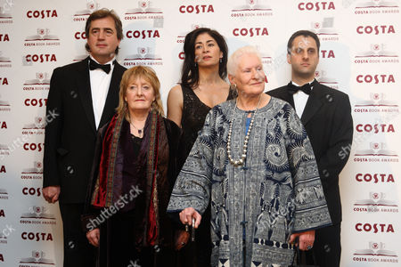 (l-r)Sebastian Barry, Michelle Magorian, Sadie Jones, Diana Athill and Adam Foulds