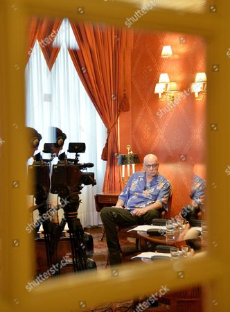 Us Writer James Ellroy Looks On During an Interview About His Last Novel 'Perfidia' in the Sitea Hotel in Turin Italy 12 March 2015