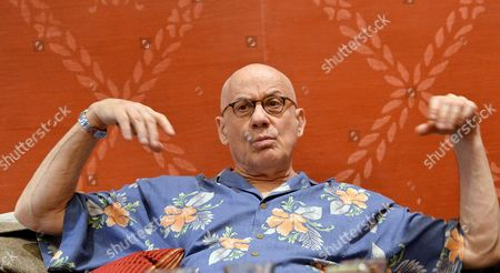 Us Writer James Ellroy Talks During an Interview About His Last Novel 'Perfidia' in the Sitea Hotel in Turin Italy 12 March 2015