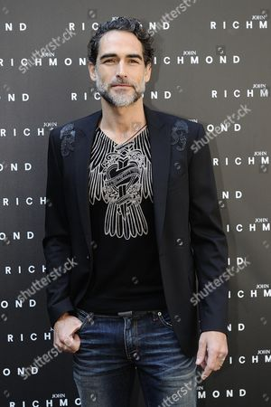 Spanish Actor Sergio Muniz Poses During the Presentation of the Fall/winter 2015 Collection by British Designer John Richmond During the Milan Fashion Week in Milan Italy 01 March 2015 the Milano Moda Donna Will Run From 25 February to 02 March