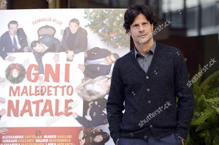 Italian Actor/cast Member Andrea Sartoretti Poses For Photographs During the Photocall For the Movie 'Ogni Maledetto Natale' (any Damn Christmas) in Rome Italy 19 November 2014 the Movie Will Be Released in Italian Theaters On 27 November