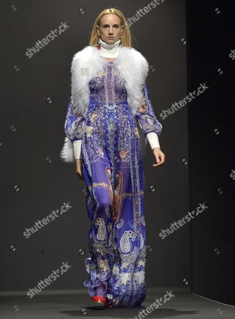 27a98ad071 A Model Presents a Creation From the Fall/winter 2015-2016 Collection of  Italian