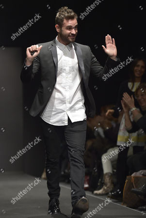 Italian Designer Salvatore Piccione Waves On the Catwalk After Presenting His Fall/winter 2015-2016 Collection For His Label Piccione Piccione During the Altaromaaltamoda Fashion Week in Rome Italy 31 January 2015 the Event Runs From 30 January to 02 February