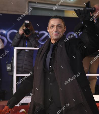 Italian Singer/songwriter and Guitarist Alex Britti Poses For a Photo On the Red Carpet of the Sanremo Song Festival Outside the Ariston Theatre in Sanremo Italy 09 February 2015 the 65th Festival Della Canzone Italiana Will Take Place From 10 to 14 February 2015