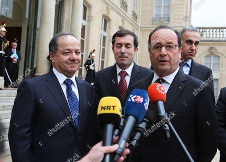 Francois Hollande, Massoud Barzani