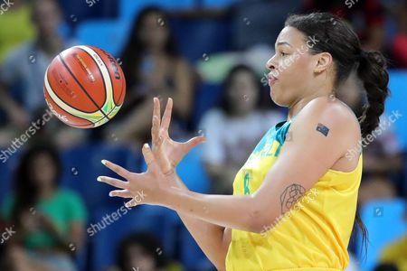Elizabeth Cambage of Australia Competes For the Ball During Women's Quarterfinal Basketball Game of the Rio 2016 Olympic Games at the Carioca Arena 1 in the Olympic Park in Rio De Janeiro Brazil 16 August 2016 Brazil Rio De Janeiro
