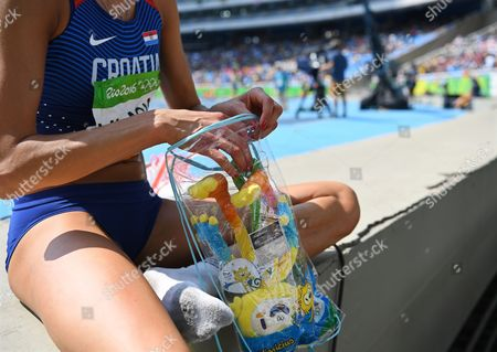 Blanka Vlasic of Croatia Prepares to Compete During the Women's High Jump Qualification of the Rio 2016 Olympic Games Athletics Track and Field Events at the Olympic Stadium in Rio De Janeiro Brazil 18 August 2016 Brazil Rio De Janeiro
