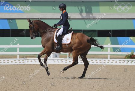 Alice Naber-lozeman From Netherlands on Her Horse Peter Parker Performs in the Dressage Portion of the Rio 2016 Olympic Games Eventing Individual Competition at the Olympic Equestrian Center in Deodoro Rio De Janeiro Brazil 07 August 2016 Brazil Rio De Janeiro