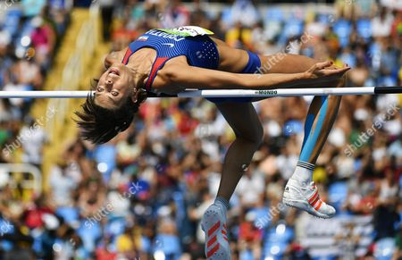 Blanka Vlasic of Croatia Competes During the Women's High Jump Qualification of the Rio 2016 Olympic Games Athletics Track and Field Events at the Olympic Stadium in Rio De Janeiro Brazil 18 August 2016 Brazil Rio De Janeiro