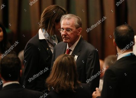 Ioc Honorary President Jacques Rogge Arrives For the Opening of the 129th Ioc Session at the Cidade Das Artes in Rio De Janeiro Brazil 01 August 2016 Rio 2016 Olympic Games Take Place From 05 to 21 August Brazil Rio De Janeiro
