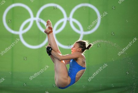 Laura Marino of France in Action in the Women's 10m Platform Diving Preliminary Round Competition of the Rio 2016 Olympic Games Diving Events at the Maria Lenk Aquatics Centre in the Olympic Park in Rio De Janeiro Brazil 17 August 2016 Brazil Rio De Janeiro