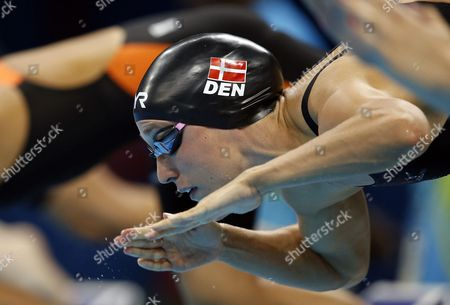 Rikke Moller Pedersen of Denmark Competes in the Women's 200m Breaststroke Heatsduring the Rio 2016 Olympic Games Swimming Events at Olympic Aquatics Stadium at the Olympic Park in Rio De Janeiro Brazil 10 August 2016 Brazil Rio De Janeiro