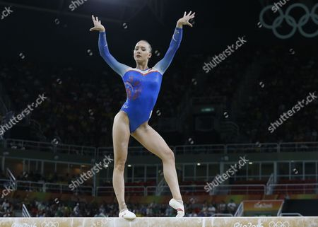 Lieke Wevers of the Netherlands Competes on the Balance Beamduring the Women's Qualification of the Rio 2016 Olympic Games Artistic Gymnastics Events at the Rio Olympic Arena in Barra Da Tijuca Rio De Janeiro Brazil 07 August 2016 Brazil Rio De Janeiro