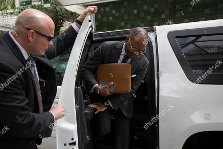 John Kelly U.S. Ambassador Todd Robinson arrives at the Foreign Affairs Ministry during a visit by U.S. Secretary of Homeland Security John F. Kelly to Guatemala City