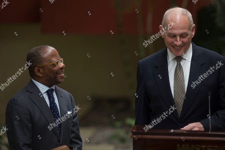 John Kelly U.S. Ambassador Todd Robinson, left, and U.S. Secretary of Homeland Security John F. Kelly give a press conference at the Foreign Affairs Ministry in Guatemala City, . Kelly is in Guatemala for a two day official visit