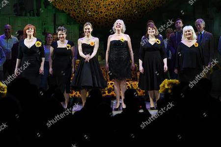 Sophie-Louise Dann, Claire Machin, Joanna Riding, Claire Moore, Debbie Chazen and Michele Dotrice