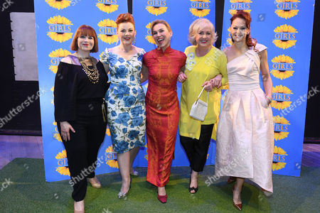 Debbie Chazen, Sophie- Louise Dann, Joanne Riding, Claire Moore and Jenny Gayner