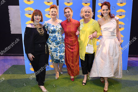 Stock Photo of Debbie Chazen, Sophie- Louise Dann, Joanne Riding, Claire Moore and Jenny Gayner