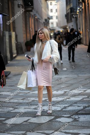 Editorial photo of Alessandra Sorcinelli out and about, Milan, Italy - 22 Feb 2017