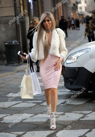 Editorial picture of Alessandra Sorcinelli out and about, Milan, Italy - 22 Feb 2017
