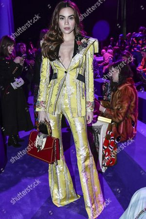 Editorial image of Gucci show, Front Row, Autumn Winter 2017, Milan Fashion Week, Italy - 22 Feb 2017